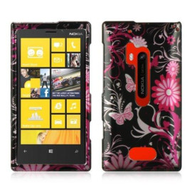 Nokia Lumia 928 Ctystal Case Pink Butterfly