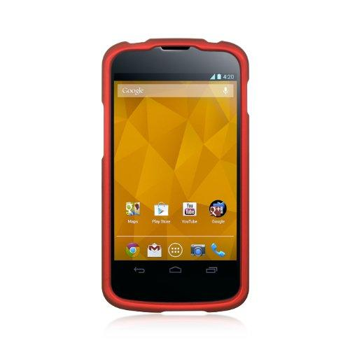 Lg Nexus 4 / E960 Crystal Rubber Case Red