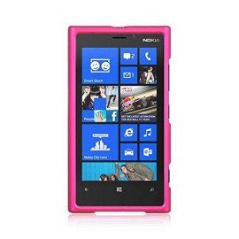 Nokia Lumia 920 Crystal Rubber Case Hot Pink