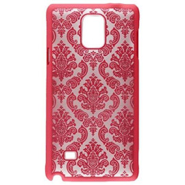 Samsung Galaxy Note 4 Crystal Rubber Case Lace Hot Pink-Crsamnote4Lachp