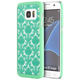 Samsung Galaxy S7 Edge Crystal Rubber Case Lace Teal