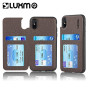For Iphone Xs / X The Commuter Leather Tpu Rear Flip Wallet Case - Brown