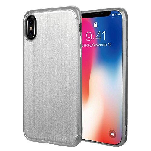 For Iphone Xs / X Soft Tpu Case With Satin Finish Surface - Silver