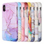The Artistry Collection Full Coverage Imd Marble Tpu Case    With Glitter For Iphone Xs Max - Pastel Bliss