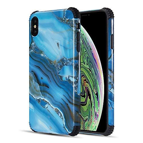The Tough Corners Uv Coated Tpu Case With Full Cover         Printed Design For Iphone Xs Max - Blue Gemstone