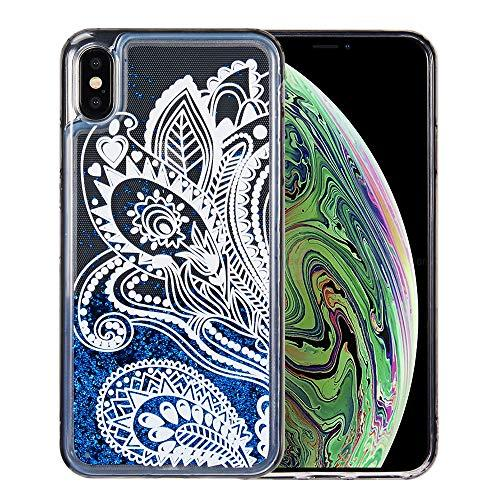 The Waterfall Liquid Sparkling Quicksand Tpu Case For Iphone Xs Max - Blue Lace