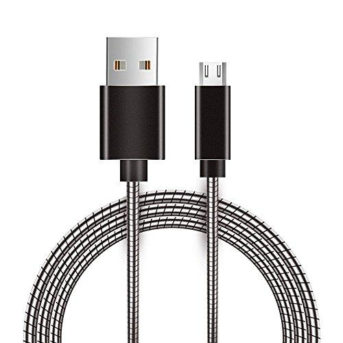 Micro Usb Metal Snake Cable With Aluminum Connectors - Gray-Dcmusb-Snak-Gy