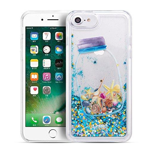Luxmo  Apple Iphone 7 / Iphone 6S / Iphone 6 Waterfall Fusion Liquid Sparkling       Quicksand Case - Drifting Bottle-Ftcip7-Watf-Dfb