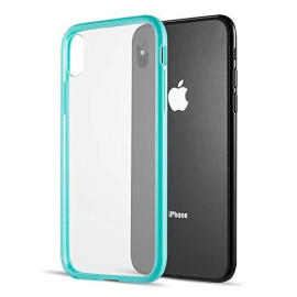 Fusion Candy Tpu With Clear Acrylic Back Plate For Iphone     Xs Max - Teal