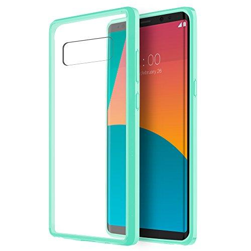 Samsung Galaxy Note 8 Fusion Candy Tpu With Clear Acrylic    Back - Teal-Ftcsamnt8-Acl-Tlcl