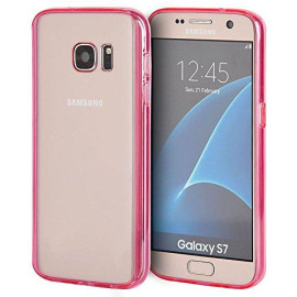 Samsung Galaxy S7 Fusion Candy Tpu With Clear Acrylic Back Pink