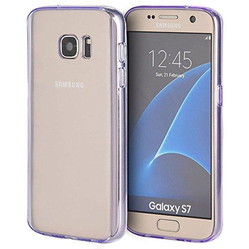 Samsung Galaxy S7 Fusion Candy Tpu With Clear Acrylic Back Purple