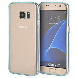 Samsung Galaxy S7 Fusion Candy Tpu With Clear Acrylic Back Teal