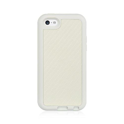 Iphone 5C Carbon Fiber Holster Combo W/ Stand White-Hehscip5Cstdwt/Wtcf
