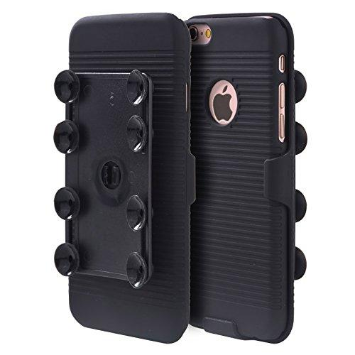 For Iphone 6 / 6S Plus Octopus Suction Holster Combo - Black