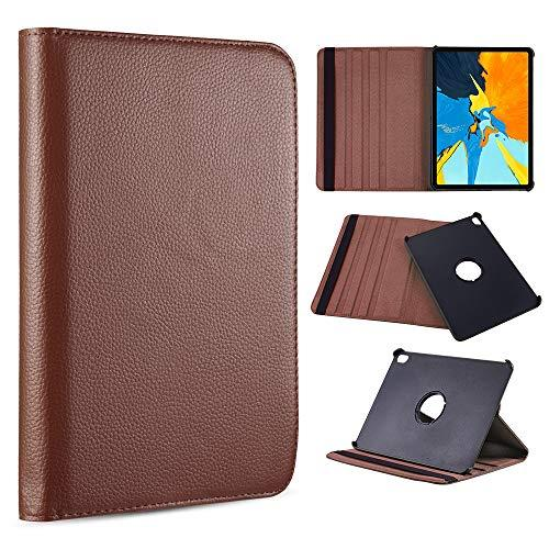 For Apple Ipad Pro 12.9(2018) Rotation Stand Tablet Folio   Cover - Brown