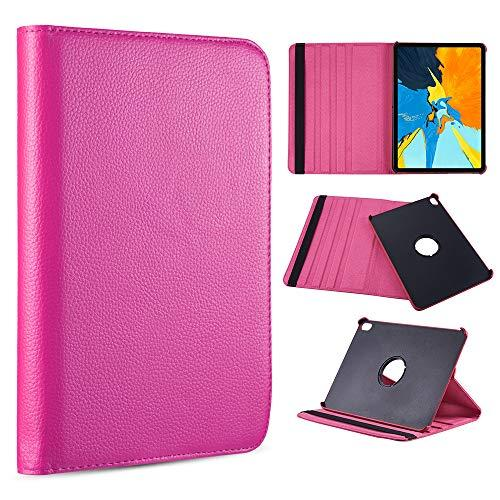 For Apple Ipad Pro 12.9(2018) Rotation Stand Tablet Folio   Cover - Hot Pink