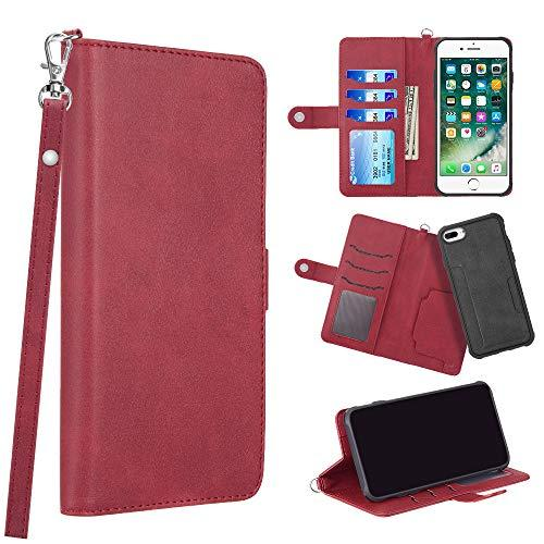 The Infiniti Series Leather Wallet Case For Iphone 8 / 7 / 6 Plus - Red