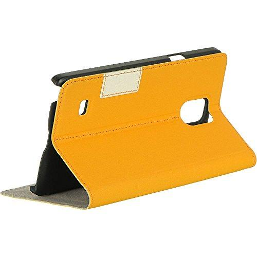 Samsung Galaxy Note 4 Vertical Pouch With Stand - Orange-Lpfsamnote4Stdor