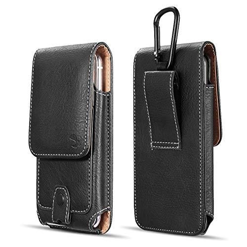 Luxmo #27 For Iphone X/Iphone 4.7/Htc One M7 Vertical        Universal Leather Pouch - Black