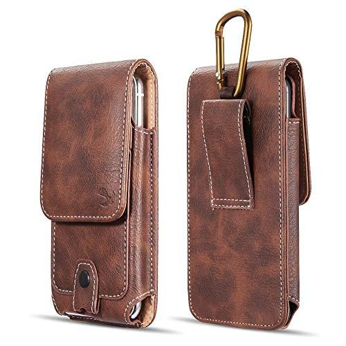 Luxmo #27 For Iphone X/Iphone 4.7/Htc One M7 Vertical        Universal Leather Pouch - Brown