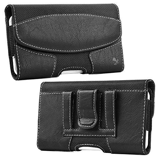 Luxmo #19 Samsung Galaxy Note / I717 Horizontal Suede Leatherstyle Pouch - Black-Lpsami717Lu19Hbk