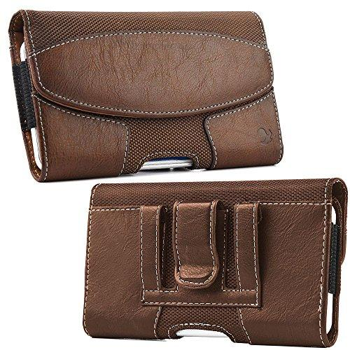 Luxmo #19 Samsung Galaxy Note / I717 Horizontal Suede Leatherstyle Pouch - Brown-Lpsami717Lu19Hbr