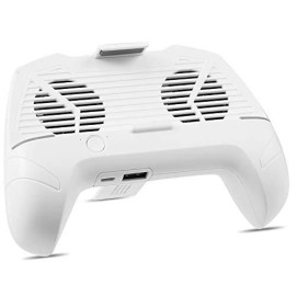 Universal Mobile Phone Game Controller Joypad Grip With Built-In Dual Cooler Fans And Power Bank - White