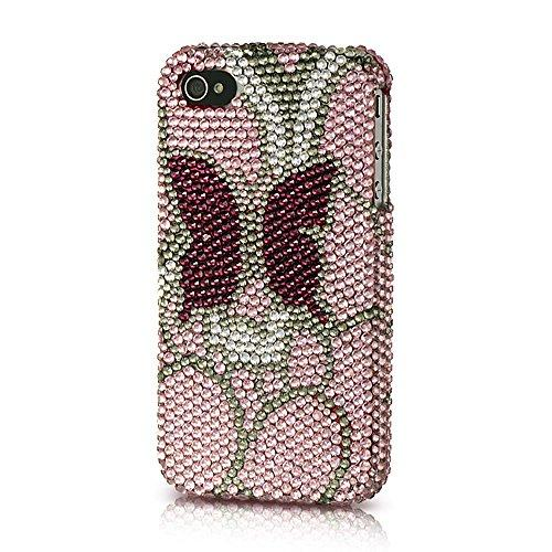 Iphone? 4S / 4 Platinum Collection Endless Sparkles Series Pink With Burgundy Butterfly-Pltessip4Pkbubf