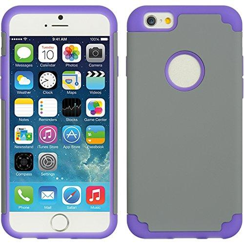Apple Iphone 6/6S (4.7) Hybrid Case Purple Skin+ Grey Rubbe-Scrip6Ppgy