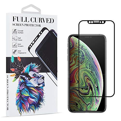 Full Cover Soft Pet Flexible Screen Protector With Silk      Print Curved Edge  For Iphone Xs / X - Black