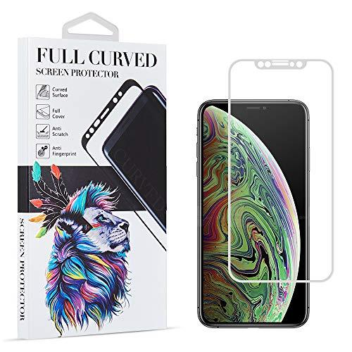Full Cover Soft Pet Flexible Screen Protector With Silk      Print Curved Edge  For Iphone Xs Max - White