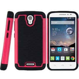Alcatel One Touch Pop Astro Grippy Hybrid Case Black Tpu + H-Tcaalcpop-Grpy-Bkhp