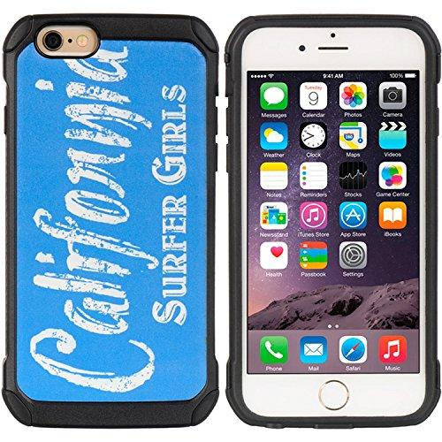 For Iphone 6 / 6S Cityscape Series Black Tpu + Pc Case Cali Surfer Girls