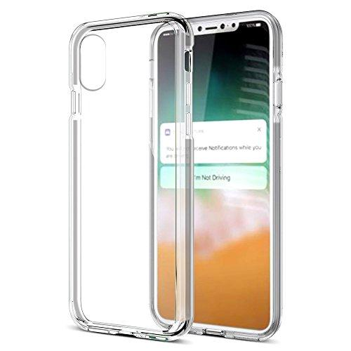 The Invisible Bumper Hybird Case Ultra Thin Agua Clear With  Smoke Inner Frame For Iphone Xs Max
