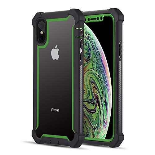 The Vispro Series Dual Tone Tough Hybrid Protection Case     For Iphone Xs / X - Green