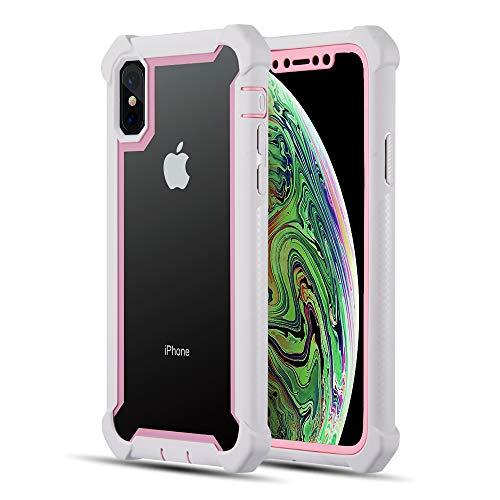 The Vispro Series Dual Tone Tough Hybrid Protection Case For Iphone Xs / X - Pink + White