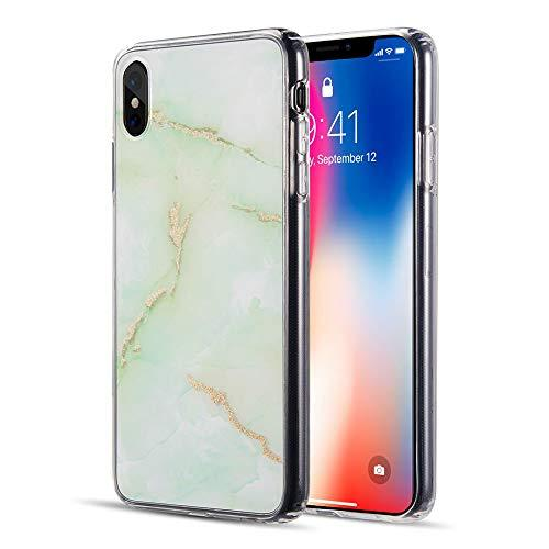 The Sparkling Marble Series Imd Soft Tpu Case For             Iphone Xs Max - Green