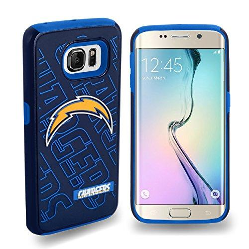 San Diego Chargers Dual Hybrid 2-Piece Samsung Galaxy S6 Edg Cover-Tpu