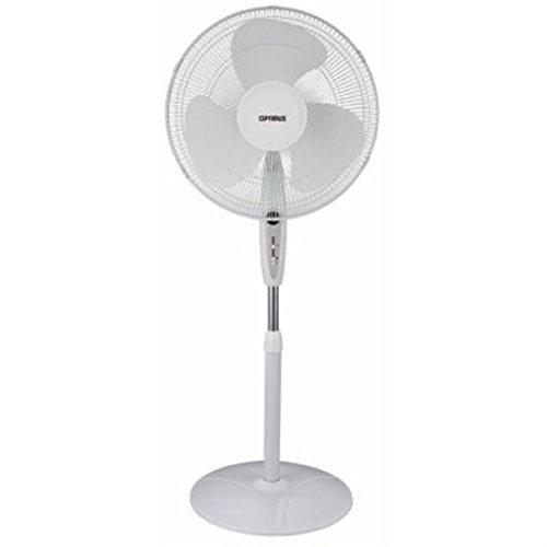 Optimus F1672Wh  Wht Fan 16 Inch Oscillating Stand Remote