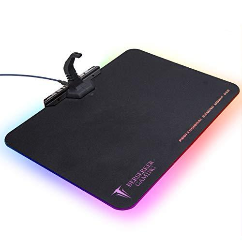 Professional Gaming Mouse Pad, Rgb Lighting, One Touch Control For Light, Cord Management With Flexible Mouse Bungee, Waterproof Surface