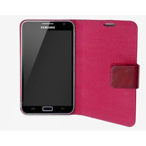 "Samsung Galaxy Note 5.3"" Pu Leather Portfolio Case?, Microfiber Lining Interior, With Screen Protector, Red Color"