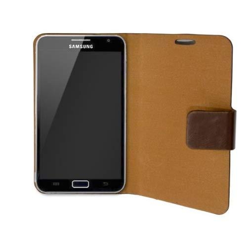 "Samsung Galaxy Note 5.3"" Pu Leather Portfolio Case?, Microfiber Lining Interior, With Screen Protector, Brown Color"