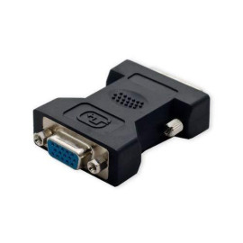 Dvi Male (24 Pin) To Vga Female (15-Pin) Adapter, Nickel Plated