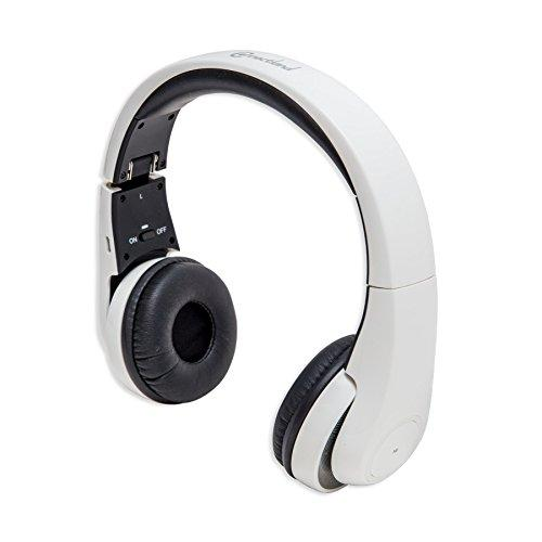 Bluetooth V3.0 Wireless Headphone With Microphone, Work With Smartphones And Tablet Pc, Up To 10-Meter Range, White Color