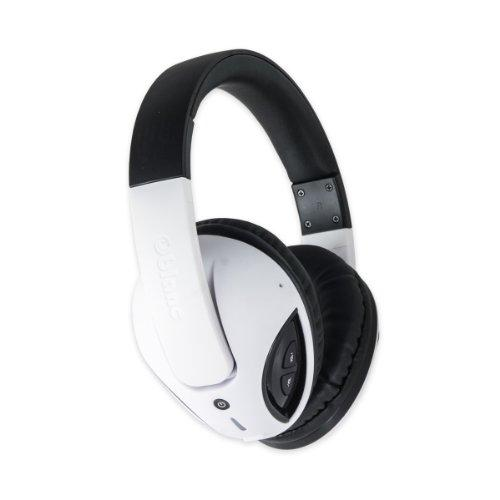 Cobra200Bt Nc1 Bluetooth V2.1? Class 2 Wireless Stereo Headphone With Built-In Microphone, Up To 10M Range, Compatible With Smartphones And Tablet, Black / White Color