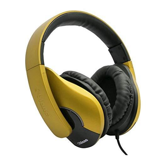 Shell200 Nc3 2.0 Stereo Headphone With In-Line Microphone, Gold Plated 3.5Mm Jack Connector, Compatible With Smartphones And Tablet, Gold / Gold Color