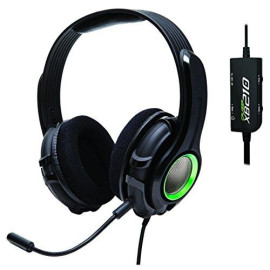 """Cruiser Xb210 2.1 Amplified Stereo Gaming Headset With Detachable Boom Microphone For Xbox 360 Console, Built-In Amplifier / Bass With """"Shakebration"""" Feature, Black Color"""