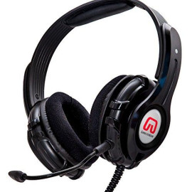 """Cruiser Pc210-I 2.1 Amplified Stereo Gaming Headset With Detachable Boom Microphone For Pc, Built-In Amplifier / Bass With """"Shakebration"""" Feature, Black Color, Blister Pack"""