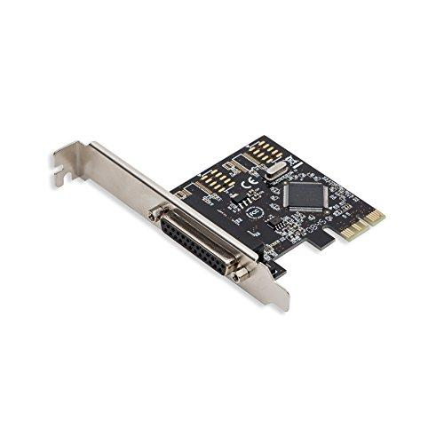 Pcie 1X Port Printer/Parallel Card, Moschip 9901 Chipset, Include One Low Profile Bracket